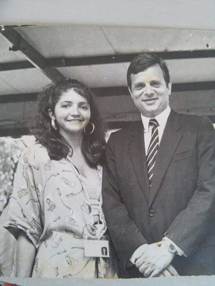 Jornalista Ian Gomes com o jovem político Tasso Jereissati