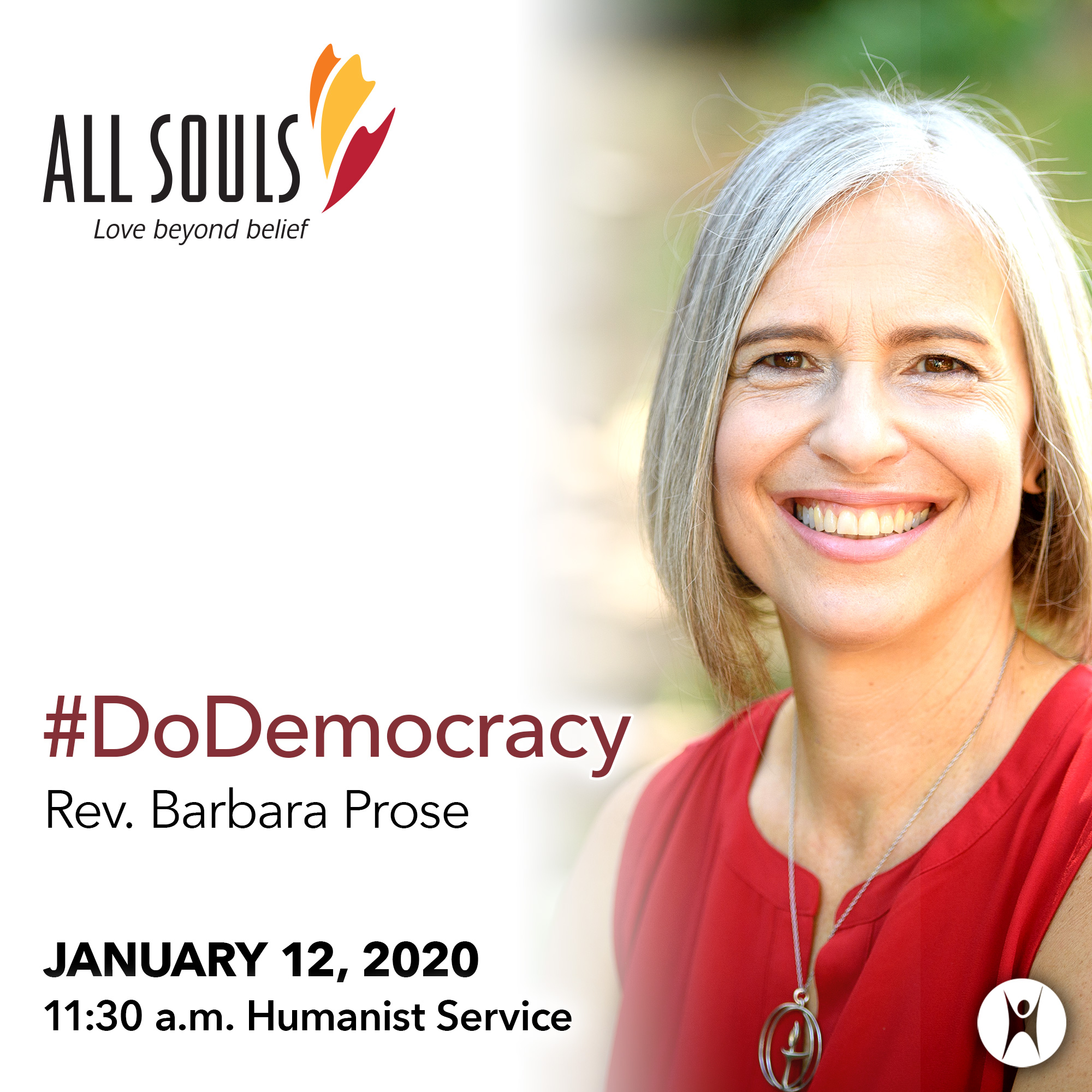 '#DoDemocracy' - A message by Rev. Barbara Prose (Humanist Service) show art
