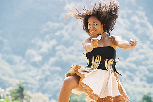 woman dancer in air