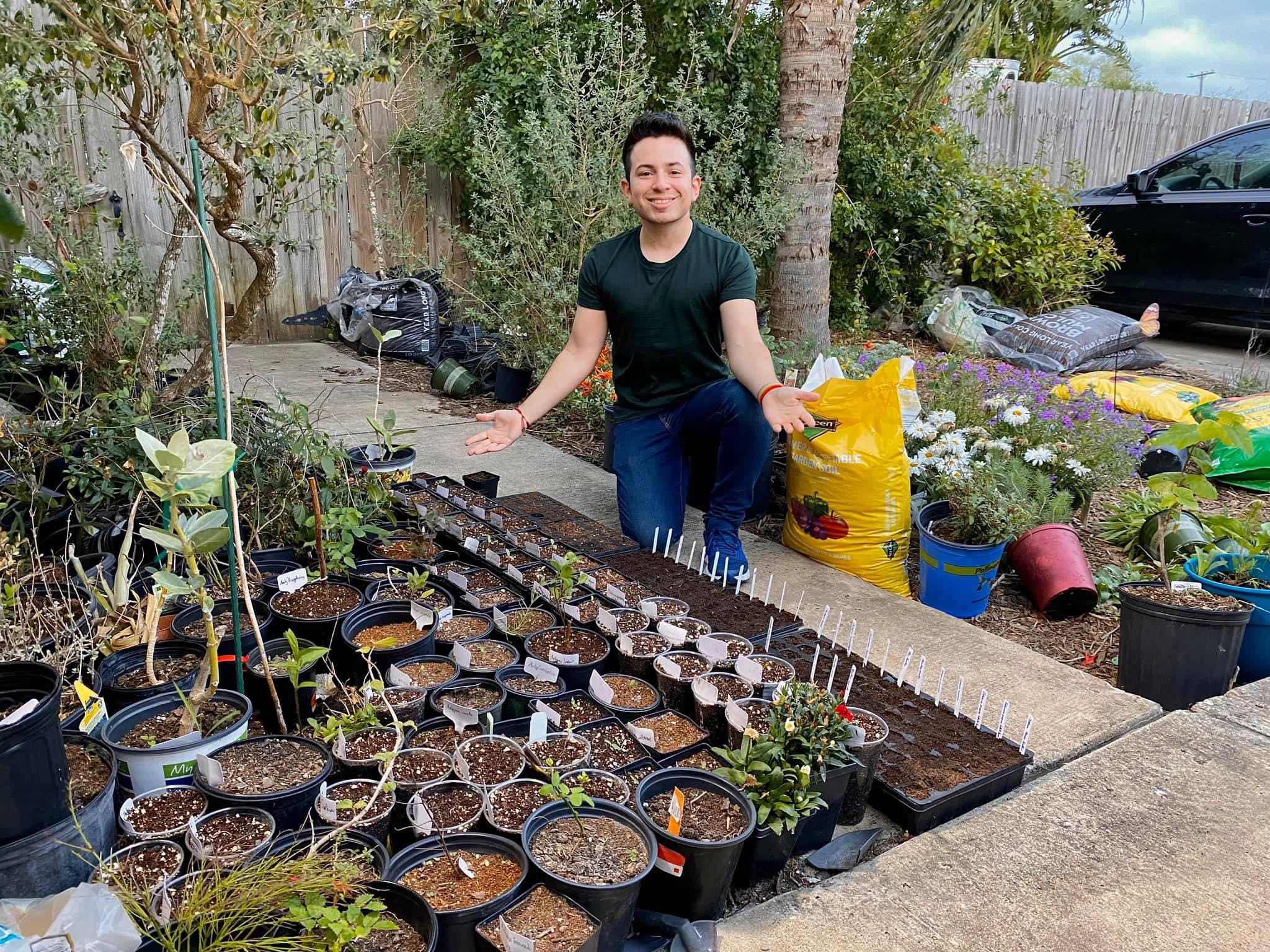 Danny in his garden.