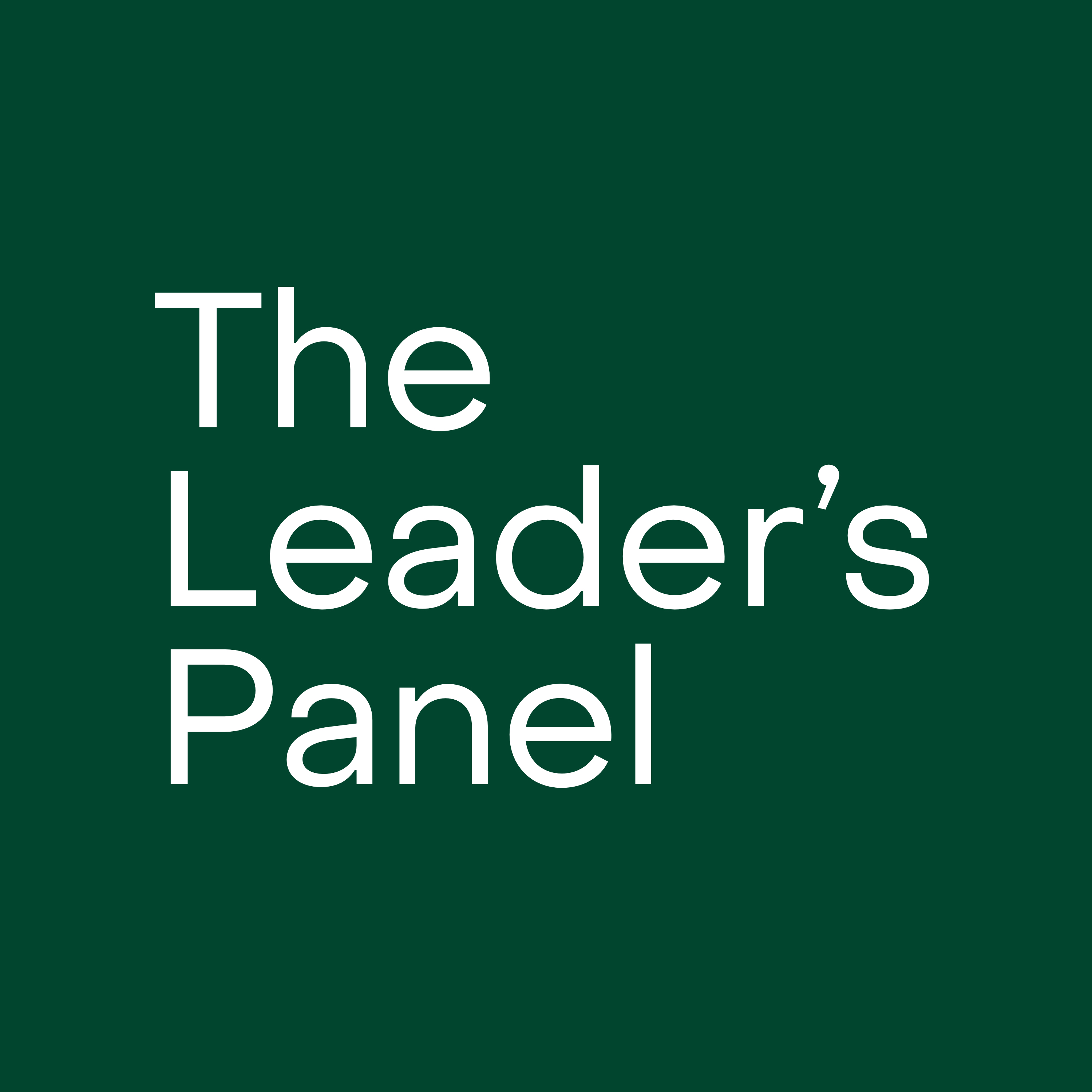 The Leader's Panel show art