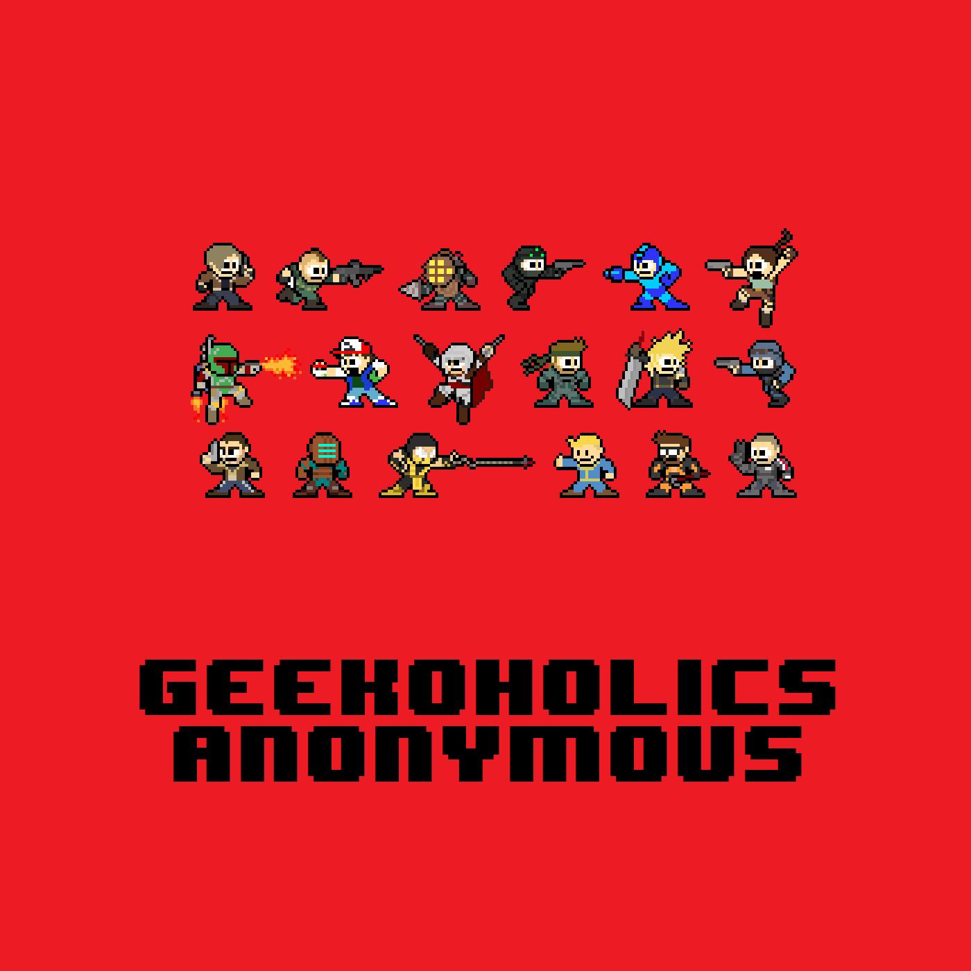 Geekoholics Anonymous: Video Games, Movies, Comics, TV, Tech and Toys logo