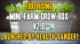 Artwork for Food Rising Mini-Farm Grow Box V2.0 launched by Health Ranger!