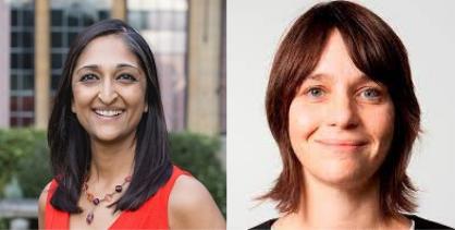 Dr. Alice Laroni and Trishna Bharadia