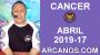 Artwork for HOROSCOPO CANCER-Semana 2019-17-Del 21 al 27 de abril de 2019-ARCANOS.COM...