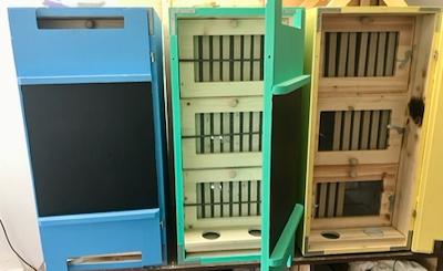 The inside of the AZ Hive Hut