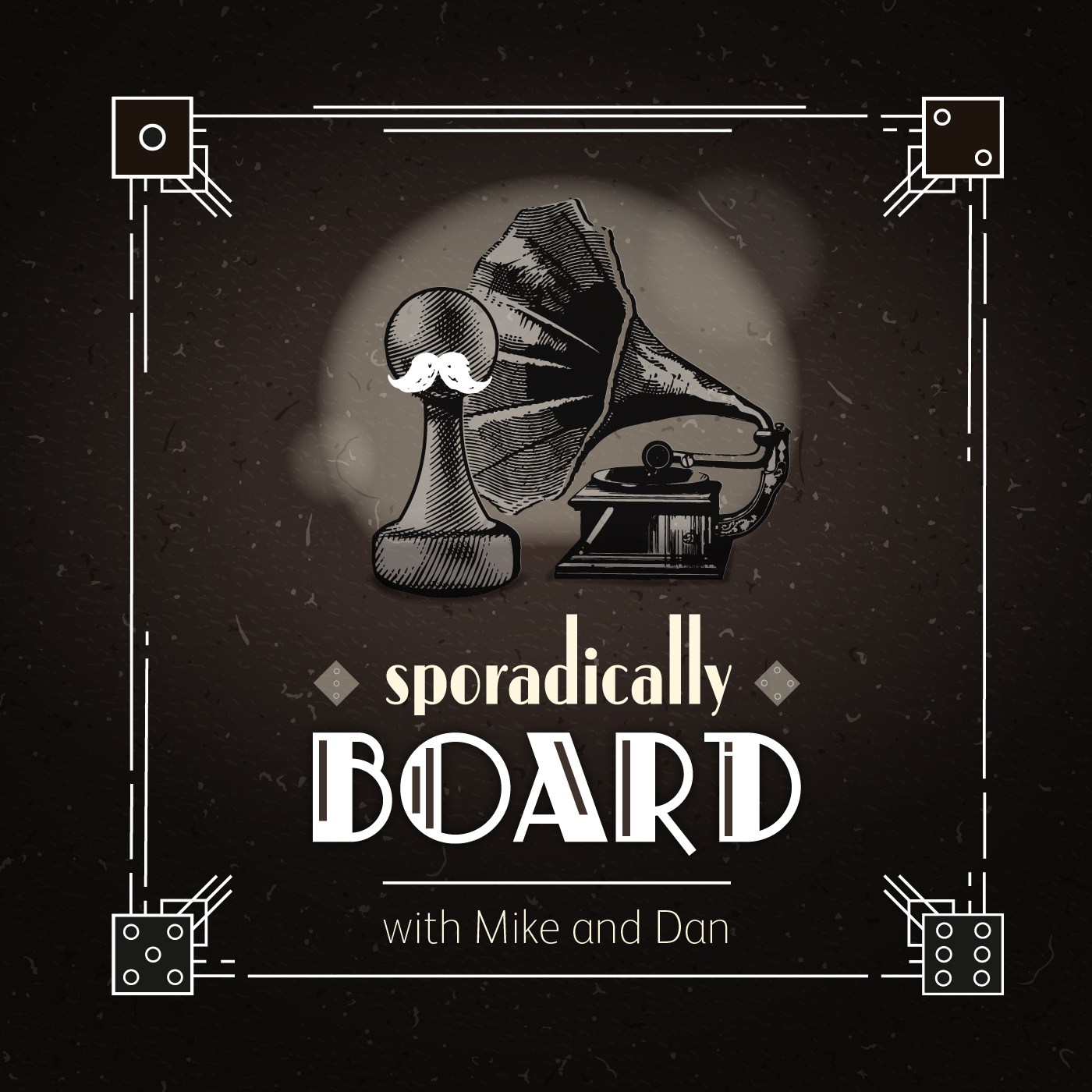 Sporadically Board with Mike and Dan show art