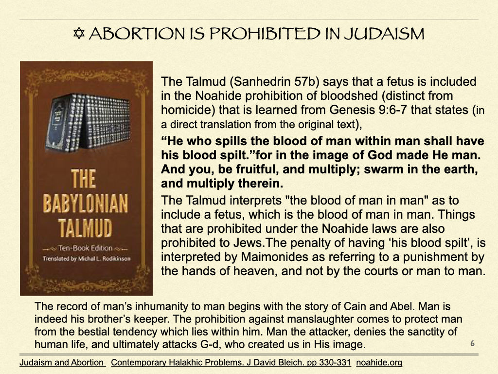 Abortion is Prohibited in Judaism