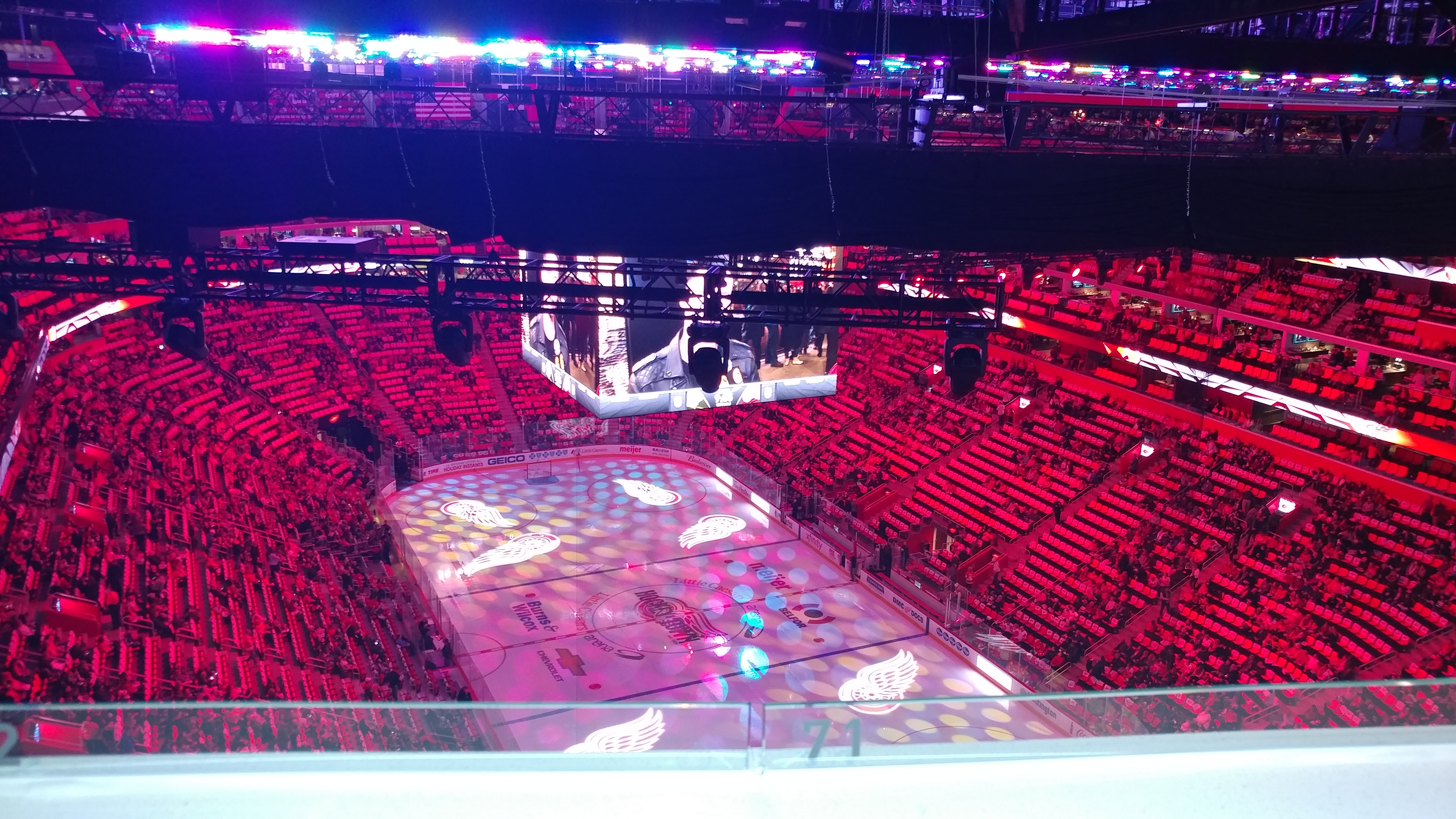 View from the top of Little Caesar's Arena