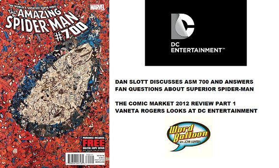 Comic Book Market 2012 review part 1 with Dan Slott And Vaneta Rogers