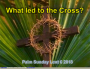 Artwork for What led to the Cross. Palm SUnday Lent 6 2018