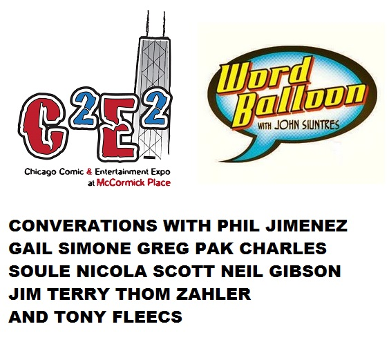 Word Balloon Podcast Phil Jimenez Gail Simone Greg Pak Charles Soule Nicola Scott and more!