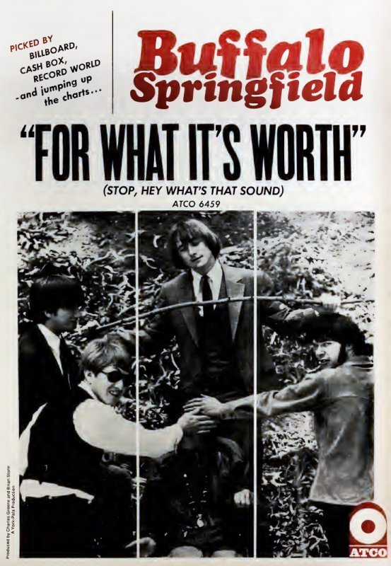 Advertisement for the Buffalo Springfield single