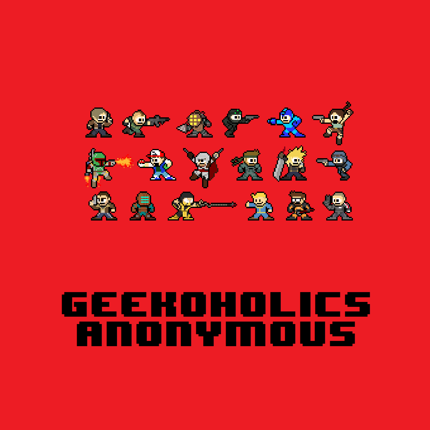 Outriders, Bravely Default II, Valhiem and more - Geekoholics Anonymous Podcast 295 show art