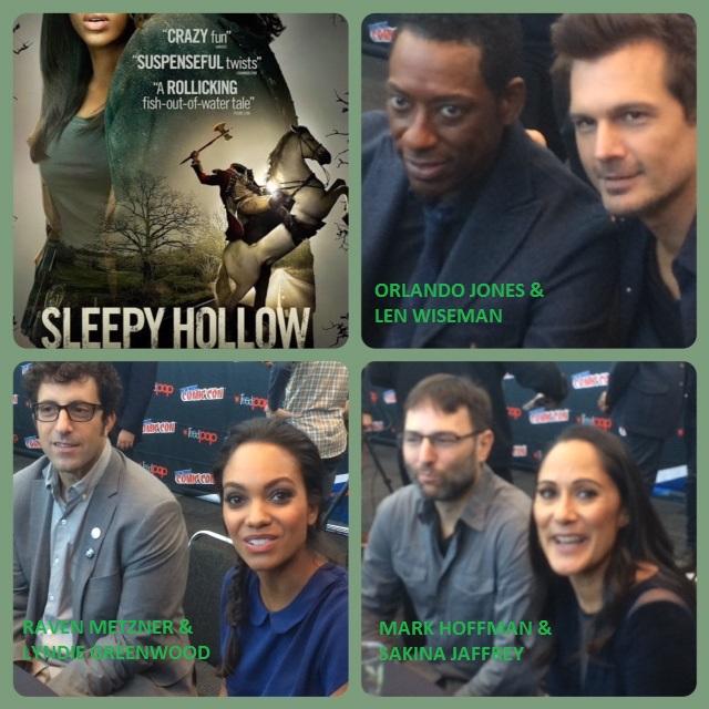 Episode 573 - NYCC: Sleepy Hollow w/ Orlando Jones/Lyndie Greenwood/Sakina Jaffrey/Mark Goffman/Len Wiseman/Raven Metzner.