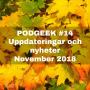 Artwork for #14 Uppdateringar och nyheter november 2018