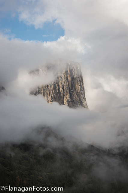 El Capitan in Fog by Kirby Flanagan