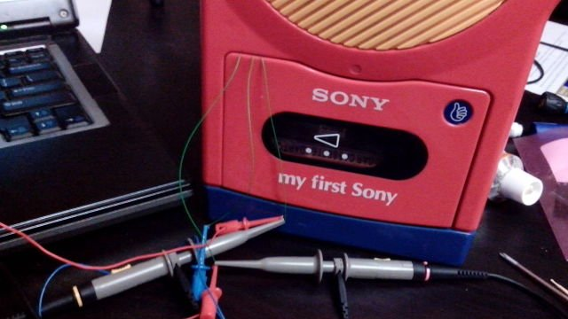 testing the device in a cool tape-player