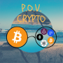 Artwork for POV Crypto Episode 8 - Coinbase lists ZRX, Fidelity enters Crypto, Tether, Stable Coins, Nouriel FUD Explosion
