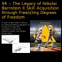 Artwork for 94 – The Legacy of Nikolai Bernstein II: Skill Acquisition through Free(z)ing Degrees of Freedom