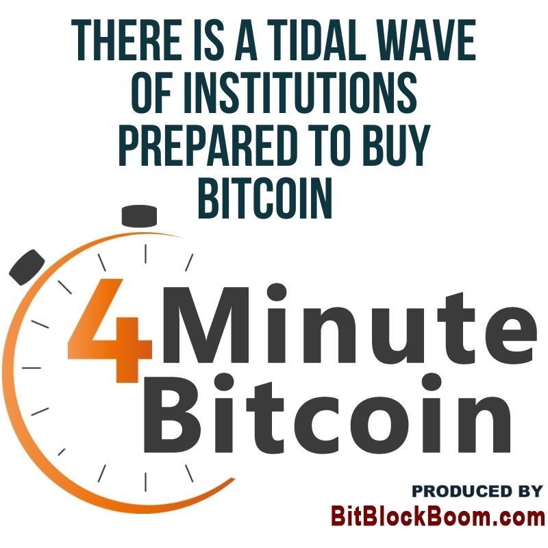 There Is A Tidal Wave of Institutions Prepared to Buy Bitcoin