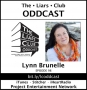 Artwork for The Liars Club Oddcast # 098 | Lynn Brunelle, Emmy Award Winning Writer, Geek, and Lover of Science