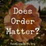 Artwork for Does Order Matter?