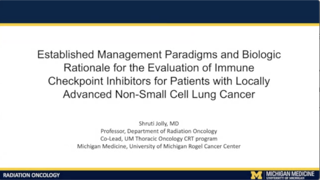 Artwork for NSCLC | Consensus or Controversy? Radiation and Medical Oncology Investigator Perspectives on the Role of Immune Checkpoint Inhibition in the Management of Locally Advanced Non-Small Cell Lung Cancer