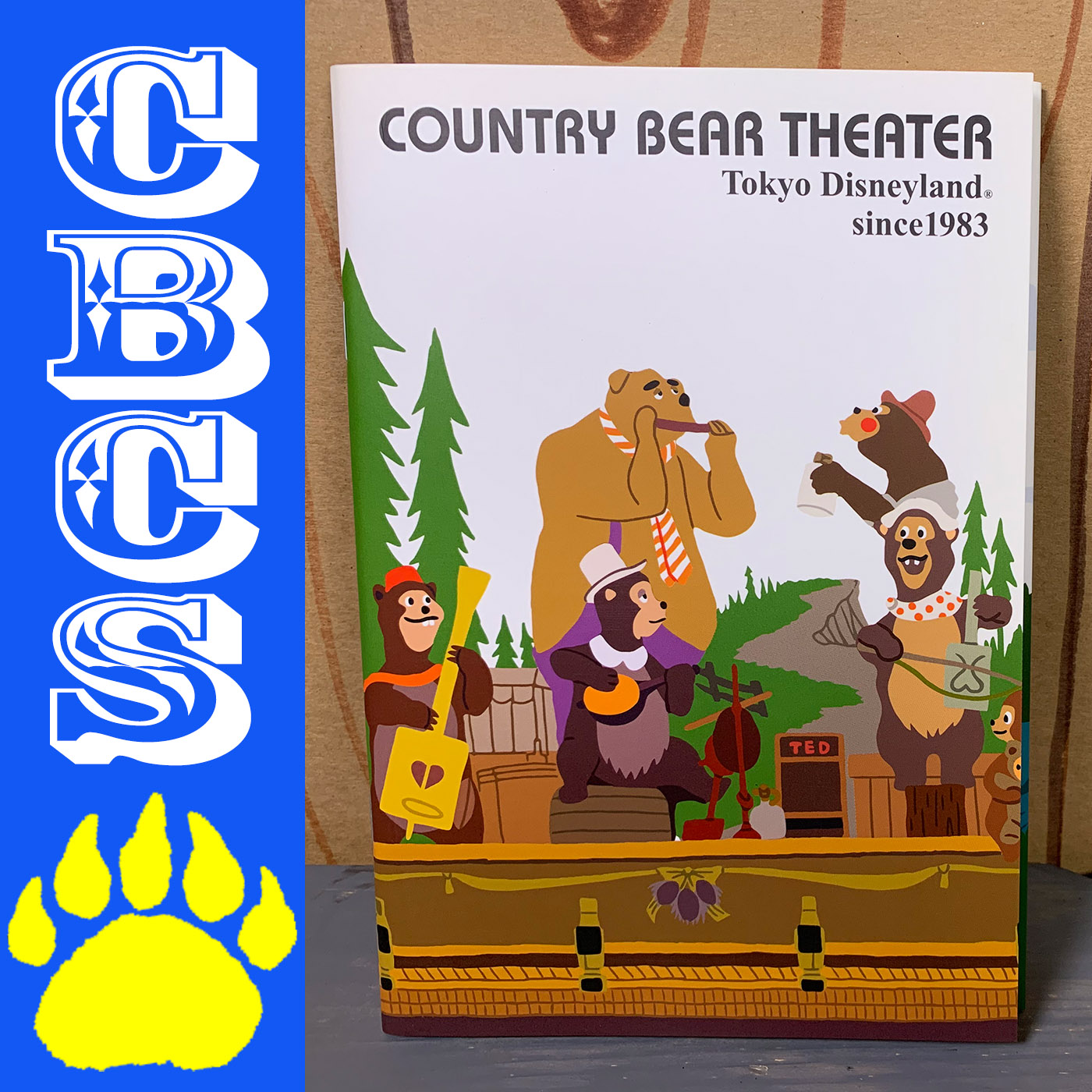 Artwork for Tokyo Disneyland Westernland Notebook - Country Bear Collector Show #190