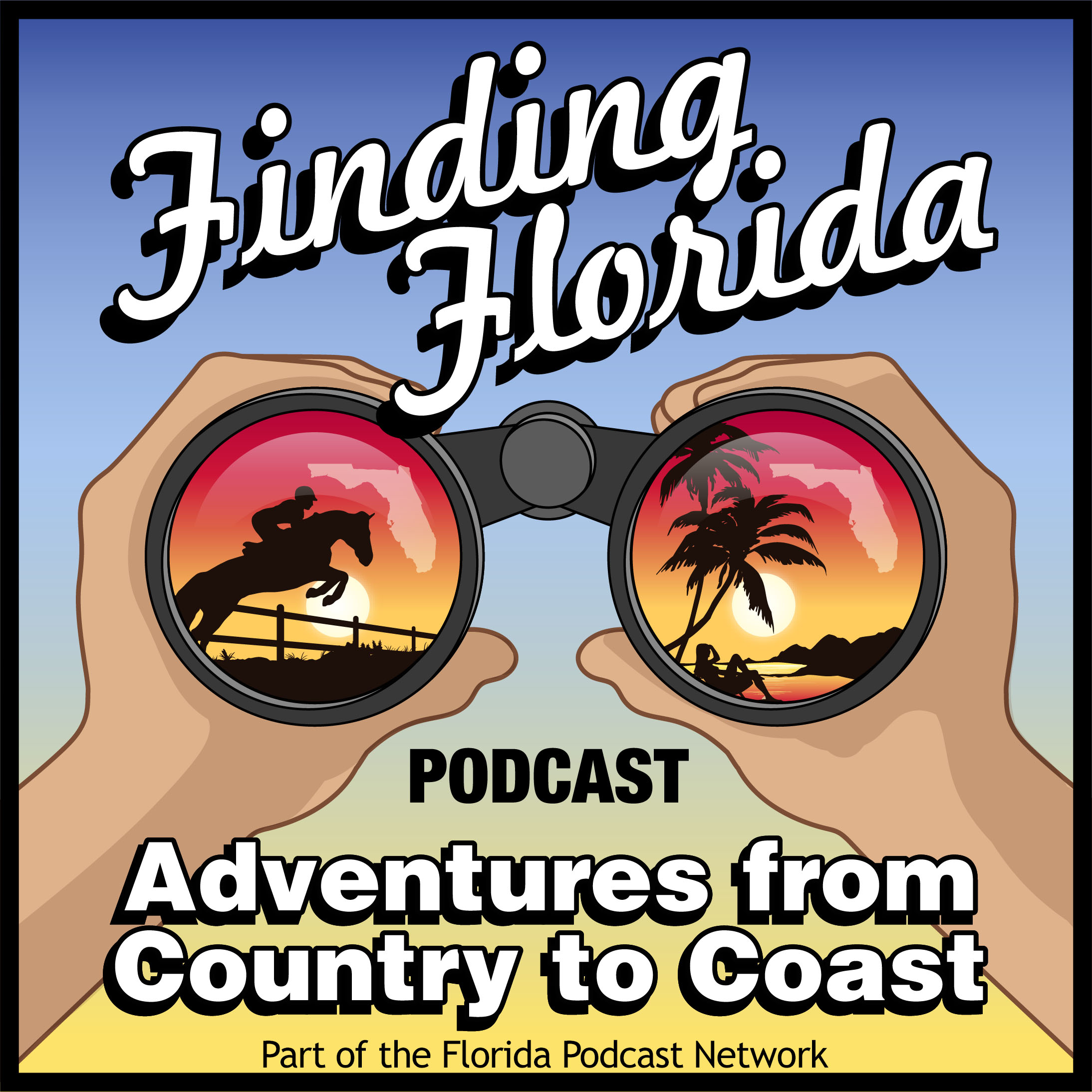 Finding Florida Podcast Has Adventures from Country to Coast show art