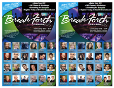 Break Forth Canada 2013 Church Bulletin and Handbill