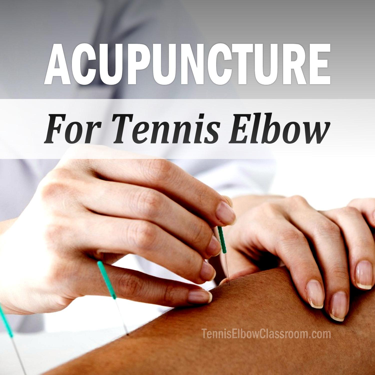 Acupuncture For Tennis Elbow Podcast Cover