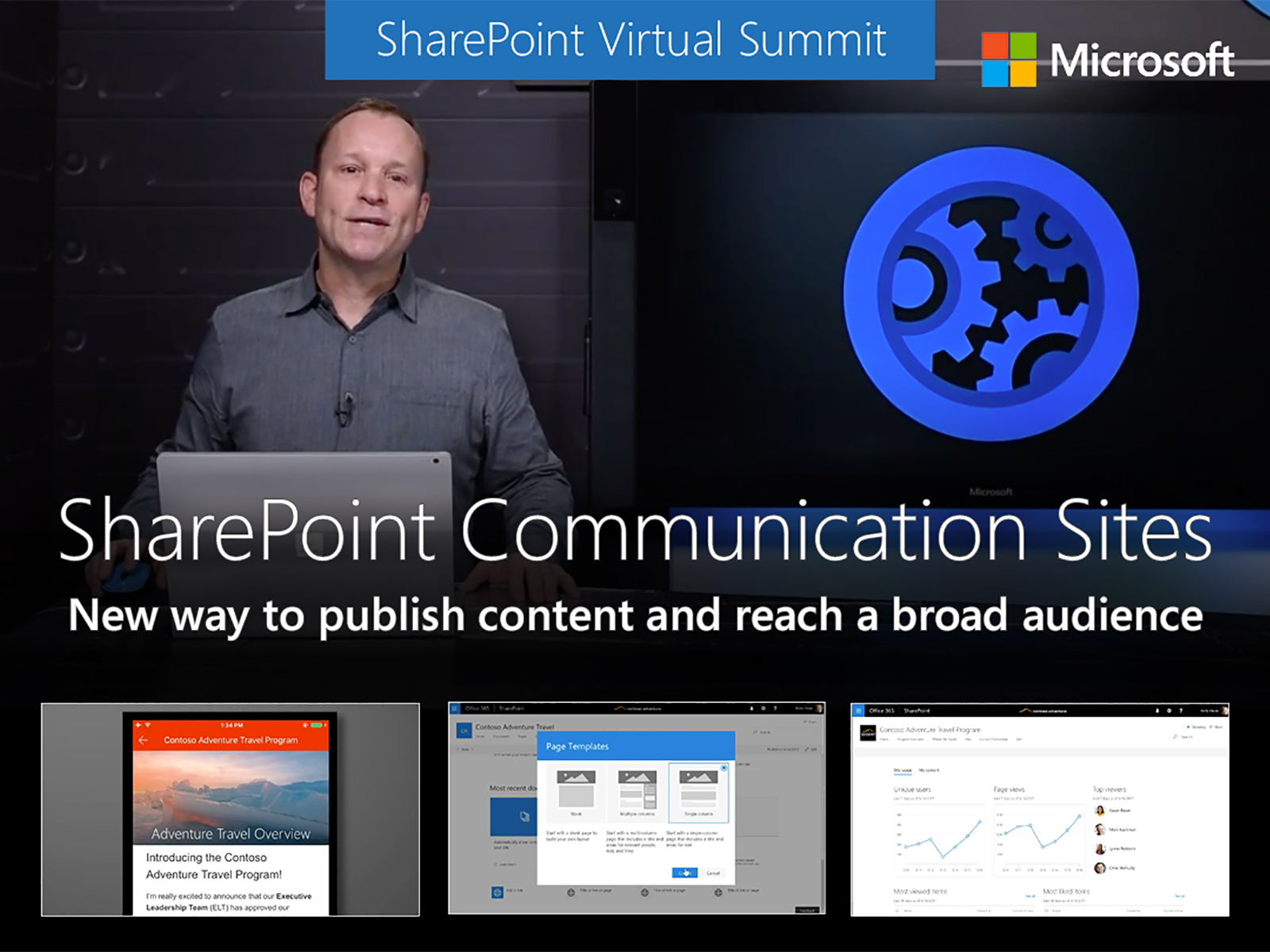 Artwork for An overview of SharePoint communication sites