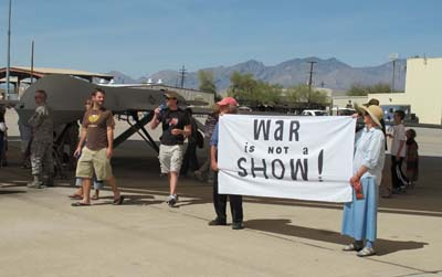 War is Not a Show: Protest at Davis-Monthan Air Force Base