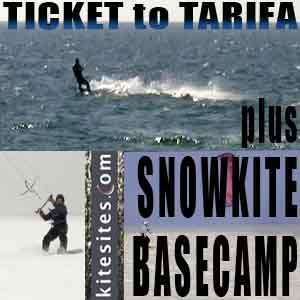 Ticket to Tarifa - plus - Snowkite Basecamp