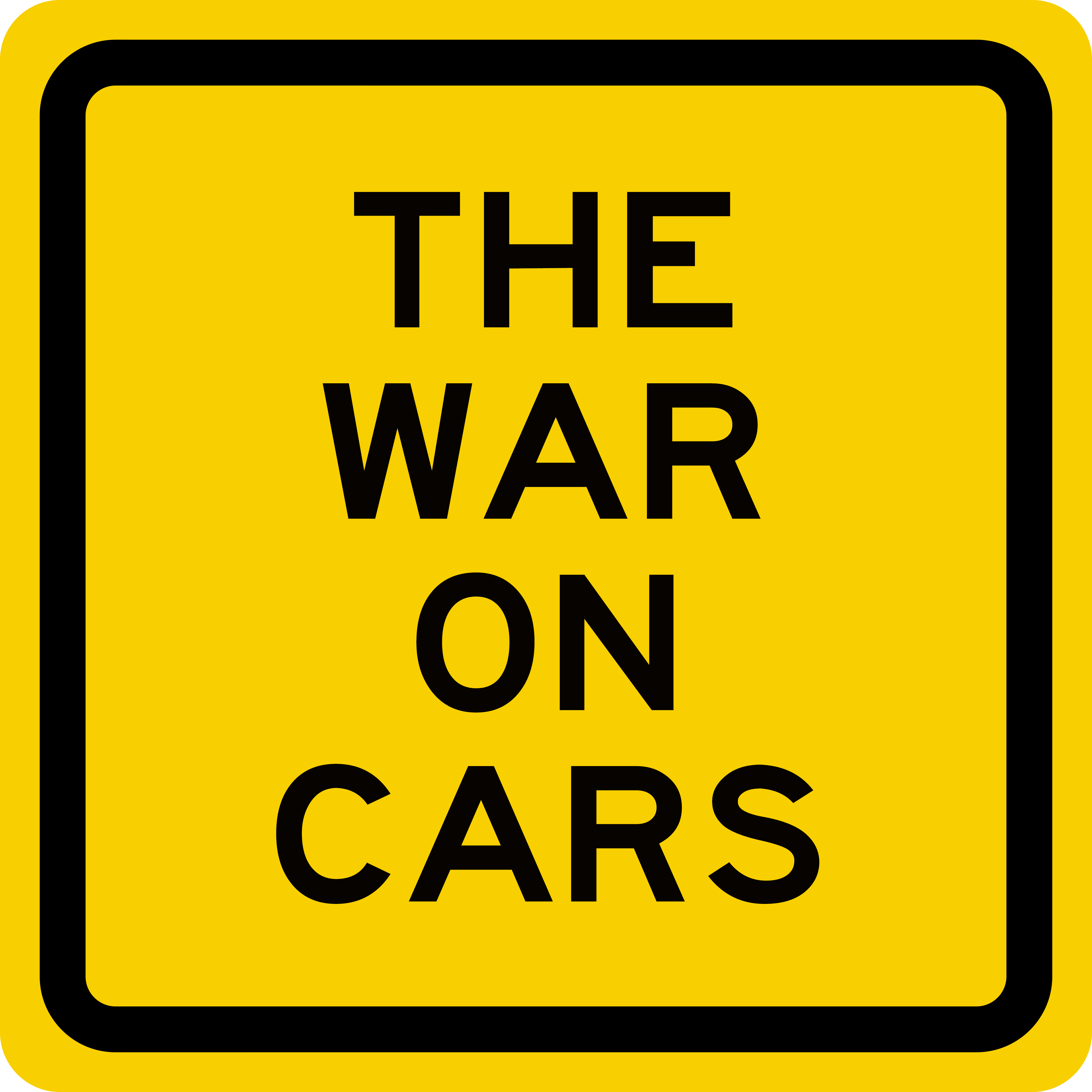 The War on Cars show art
