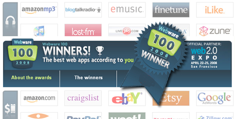Las 100 mejores aplicaciones Web del 2008