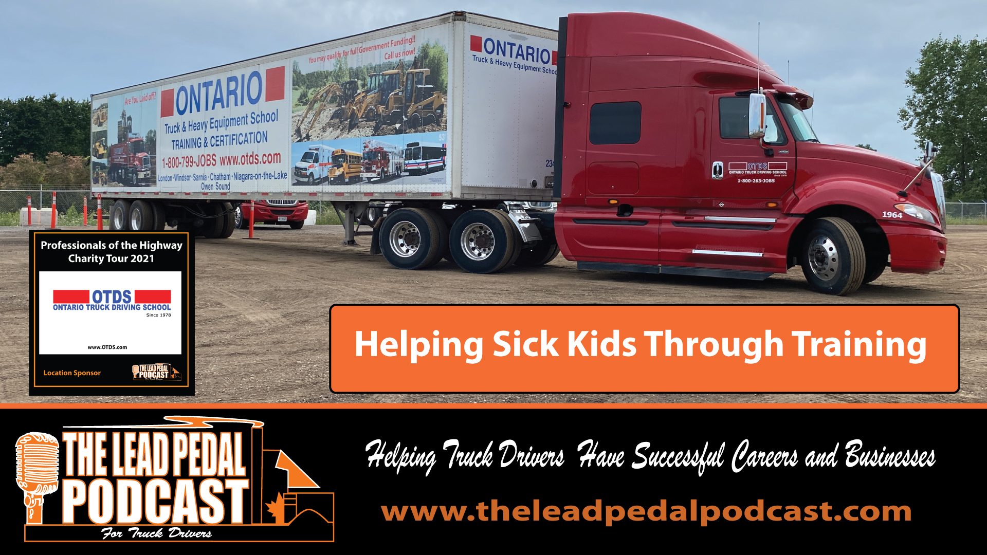 LP687 Professionals of the Highway Charity Tour Stops at Ontario Truck Driving School in London Ontario.