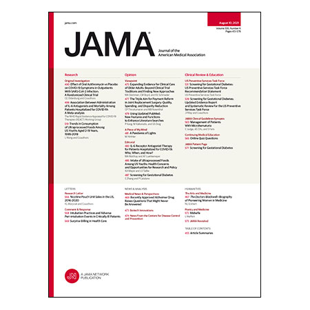 Azithromycin and IL-6 Antagonists for COVID-19, Ultraprocessed Food Consumption Among Youth, Screening for Gestational Diabetes, and more