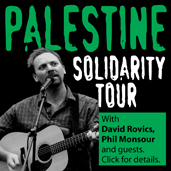 David Rovics - Interview with 2NimFM, Australian tour, Palestinian Solidarity.