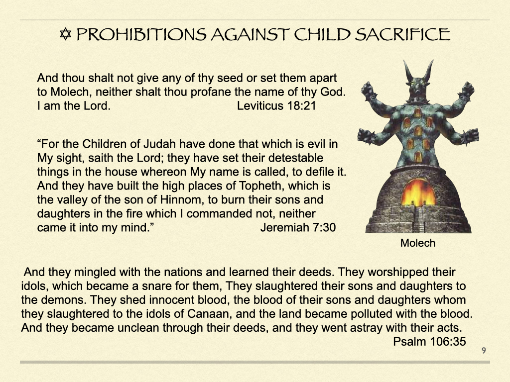 Prohibitions Against Child Sacrifice