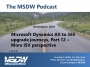 Artwork for Microsoft Dynamics AX to 365 upgrade journeys, Part 12 – More ISV perspective