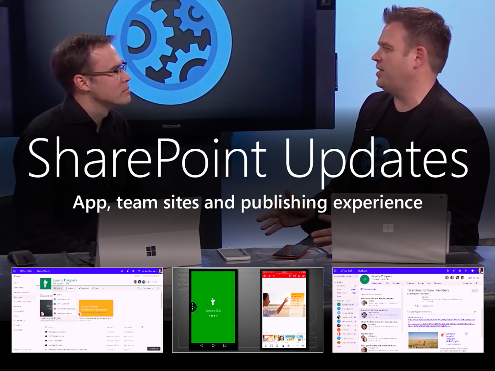 Artwork for Updates to SharePoint App, Team sites and Publishing experience