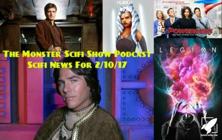 The Monster Scifi Show Podcast - Scifi News for 2/10/2017
