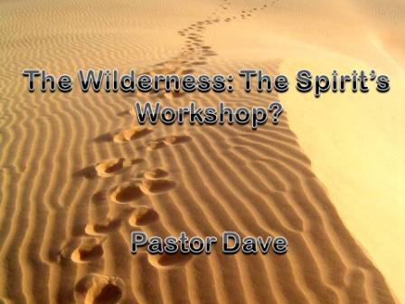 The Wilderness:  a workshop for Christ?