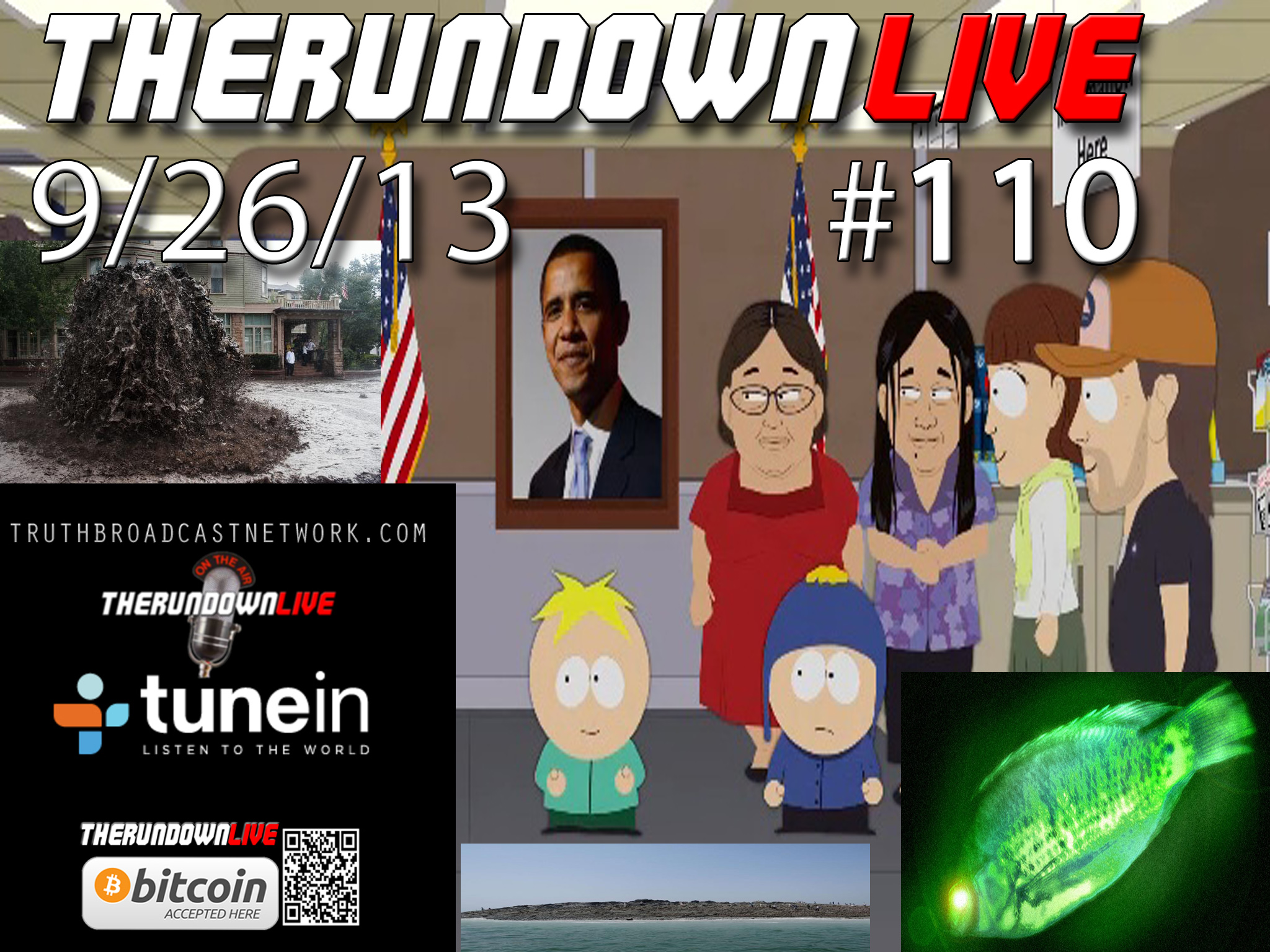 The Rundown Live #110 Fukushima Fish, New Islands,Fracking Flood,SpaceWeather,Southpark