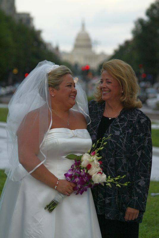 Sandy and Her Mom with US Capitol in Background