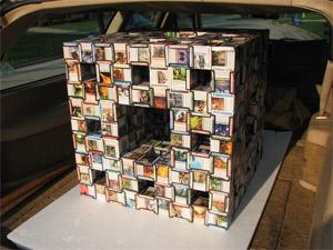 Magic card cube