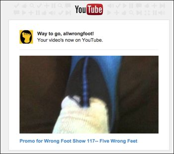 YouTube promo for Wrong Foot Show 117  Five Wrong Feet