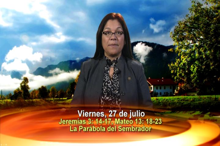 Artwork for Dios te Habla con Angela Valencia;  Tema el hoy:La Parábola del Sembrador